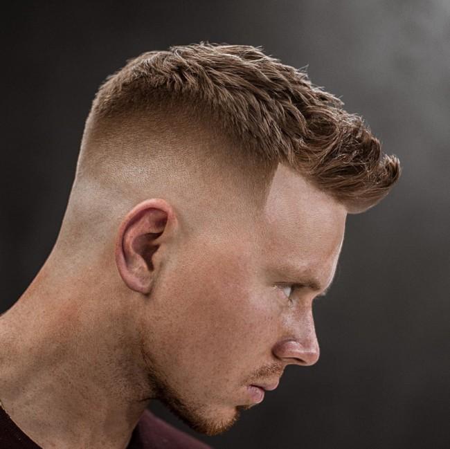 Textured Quiff + High Fade - Men's Haircuts