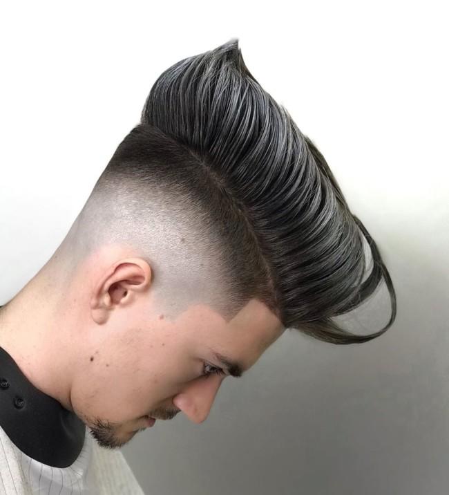 Creative Pompadour + High fade - Men's Haircuts