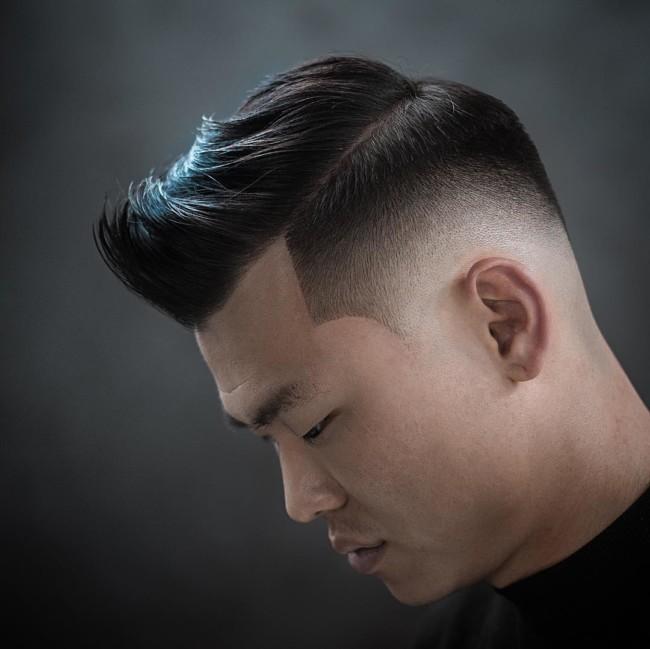 Side Part Quiff + high Fade - Men's Haircuts