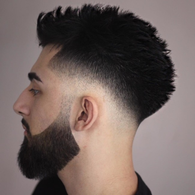 Blow Out + Disconnected Beard - Men's Haircuts