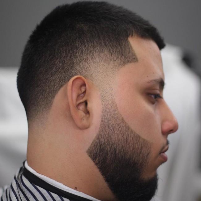 Crew Cut + Taper Fade + Beard - Men's Haircuts