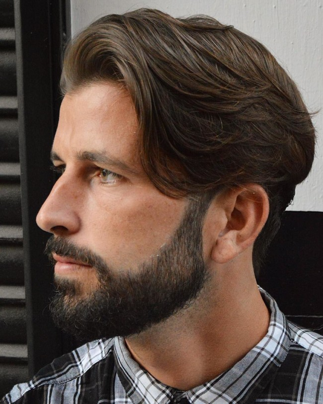 Side Sweep Hairstyle - Men's Haircuts